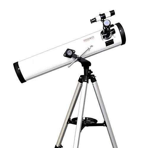 ZXASDC Telescopio astronomico para Adultos Ninos con Trípode Ajustable y 700/76mm Lente Completamente Recubierta Lente de Barlow Filtro Lunar Adecuado Principiantes Bbservación de Aves