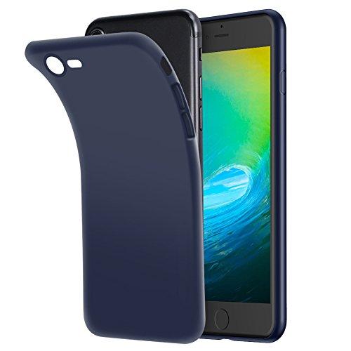 Hülle für iPhone 8 iPhone 7, FayTun Handyhülle für iPhone 7 iPhone 8- Ultra Dünn Durchsichtige Silikon Schutzhülle TPU Case für iPhone 7/iPhone 8 (4.7 Zoll, Dunkelblau)