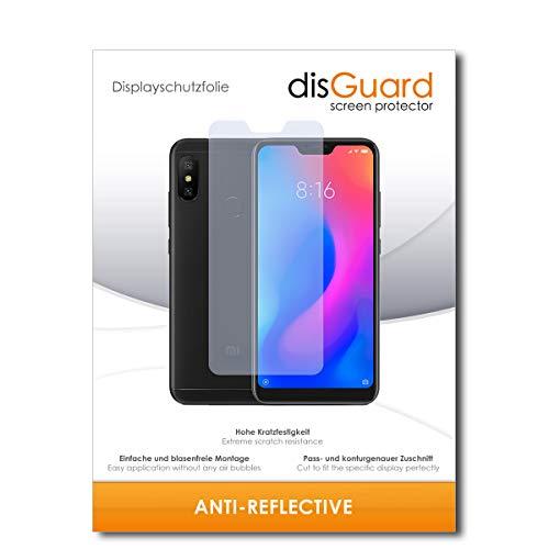 disGuard® Bildschirmschutzfolie [Anti-Reflex] kompatibel mit Xiaomi Redmi Note 6 Pro [2 Stück] Entspiegelnd, Matt, Antireflektierend, Extrem Kratzfest, Anti-Fingerabdruck - Panzerglas Folie, Schutzfolie