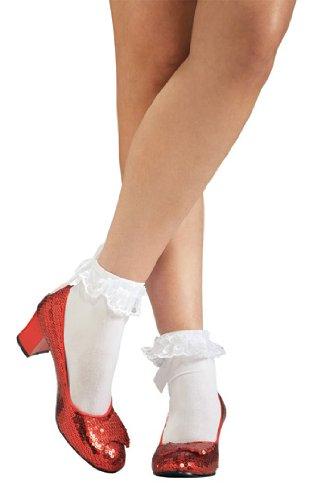 Rubies Offizielle Erwachsenschuhe von Dorothy mit Pailletten, Der Zauberer von Oz–Rot, (Amazon Von Kostüme Der Oz Zauberer)
