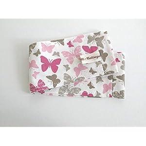 """Feuchttücherbox Bezug""""Schmetterlinge"""" rosa/taupe"""