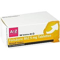 Folsäure 5 mg AbZ Tabletten, 100 St. preisvergleich bei billige-tabletten.eu