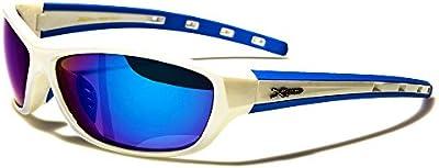 Xloop Gafas de Sol Deporte - Ciclismo - Mtb - Esquí - Running - Tenis - Moto - Moda / Mod. Cobalt Blanco