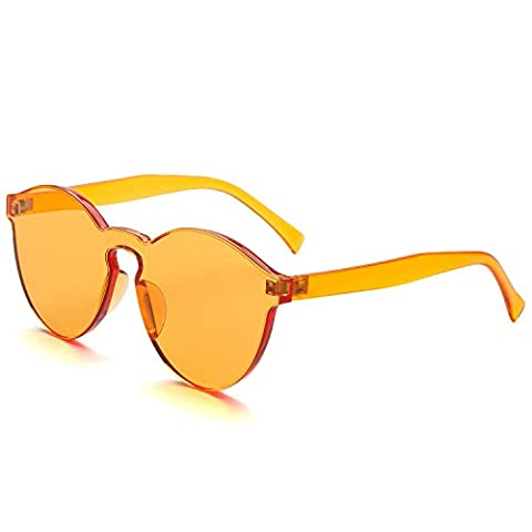 Dollger New Design Integrated Transparent Cat Eye Sunglasses with Candy