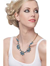SEXYHER Exquisite Beautiful Legierung Edelstein Blumen Halskette SHADJANI20131007N024B