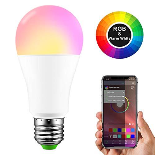 TiooDre Bombilla LED Bluetooth
