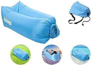 Sainlogic Airbag gonflable imperméable à l'eau, Airbag Airbag avec sac de transport, pour dormir à l'extérieur, à l'intérieur, pour l'inclinaison et la détente, sac de siège gonflable pour le jardin, la plage, le camping, etc.