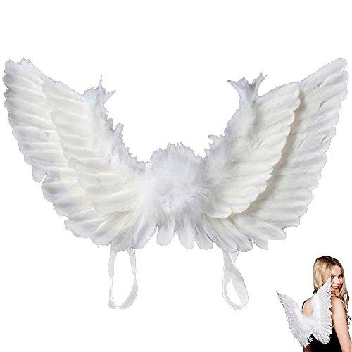 Engelsflügel für Halloween-/ Party-Kostüm, Engel, Federn, Flügel, Kostüm, Fee, Weihnachtsschmuck, weiß, Child (Weiß Gefiederte Engelsflügel)