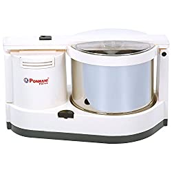 Ponmani Prince 2 Litres Table Top Wet Grinder (White)