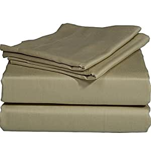 500TC 100% Egyptian Cotton Taupe Solid Brand New 1 PC Bed Sheet, King