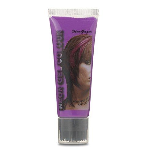 Stargazer Products UV Neon Haargel, lila, 1er Pack (1 x 50 ml)