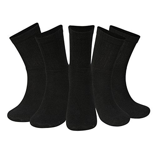 Kensington® PRO-SERIES COOL ULTRALITE CREW SPORT SOCKS For Athletic, Gym, Running, Tennis, Fitness, Training, Cycling, Football, Cricket, Rugby, Triathlon, Men (Black)