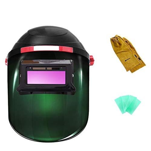 Preisvergleich Produktbild JNYZQ Schweißmaske,  automatische Dimmen Kopf montiert Lightening Mask Welder Schweißkappe Argon Arc Welding Glasses Protection (Farbe : 7)