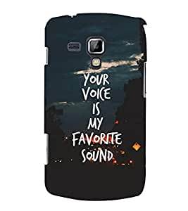 FUSON Your Voice Favorite Sound 3D Hard Polycarbonate Designer Back Case Cover for Samsung Galaxy S3 Mini I8190 :: Samsung I8190 Galaxy S Iii Mini :: Samsung I8190N Galaxy S Iii Mini