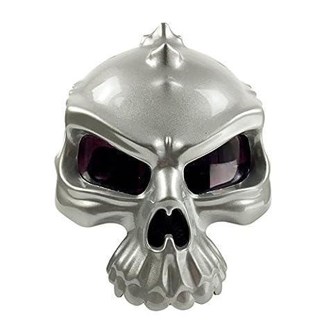 Casque de moto ouvert Tête de mord squelette 3D mat Noir Doré Blanc Vert Rose S/M/L/XL/XXL, Homme Enfant femme, Silver