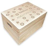 itenga Adventskalender Schachteln V10 24x Box mit Griff WEISS Faltkartons Boxen
