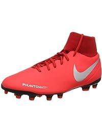 cfc970b4f Nike Men s Phantom VSN Club DF FG MG Bright Crimson Metallic Silver  Football Shoes