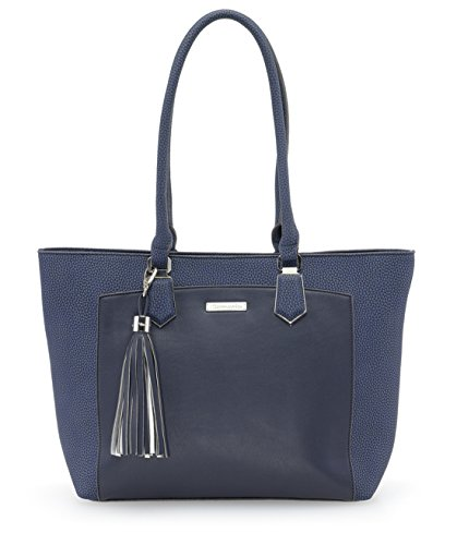 Tamaris - Elsa Shopping Bag, Borse a secchiello Donna Blu (Navy Comb.)