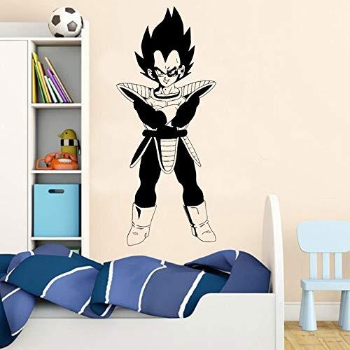 tzxdbh Vegeta Vinyl Wandtattoo Dragon Ball Z DBZ Anime Poster Wandaufkleber Für Kinderzimmer Dekoration Kinderzimmer Schlafzimmer Dekor 57x136 cm (5 Z Ball Zoll Dragon Dbz)