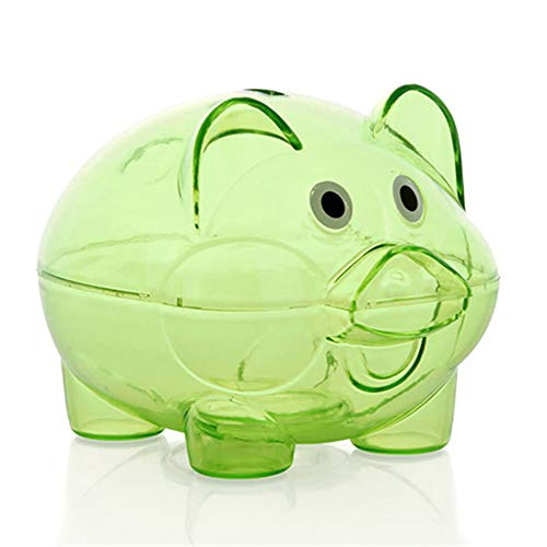 (Prenine Piggy Bank Piggy Clear, transparente Kunststoffteile Kawaii Münze Geschenk Piggy Bank Piggy Bank für Kinder)