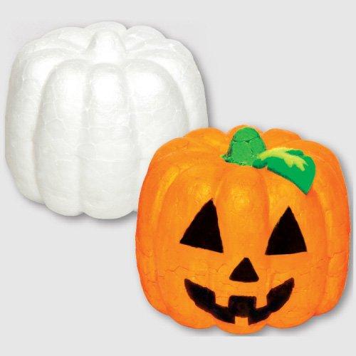 Leichte Styropor-Kürbisse für Halloween für Kinder zum Bemalen, Gestalten und Dekorieren (6 Stück)