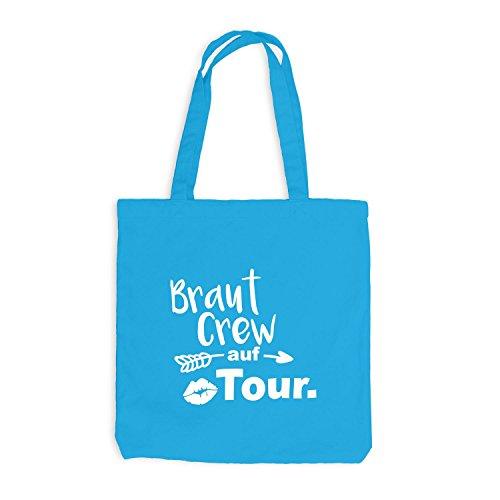 Borsa Di Juta - Jga Bride Crew On Tour Lips Arrow - Bachelor Party Surf Blue