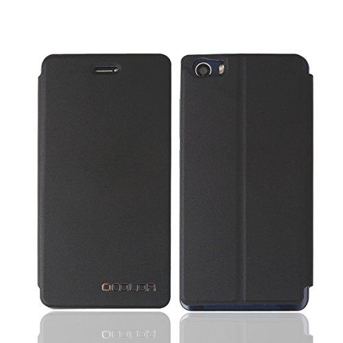 Guran® Funda de Cuero Para BLUBOO Picasso Smartphone con Función de Soporte Flip Case Cover--negro