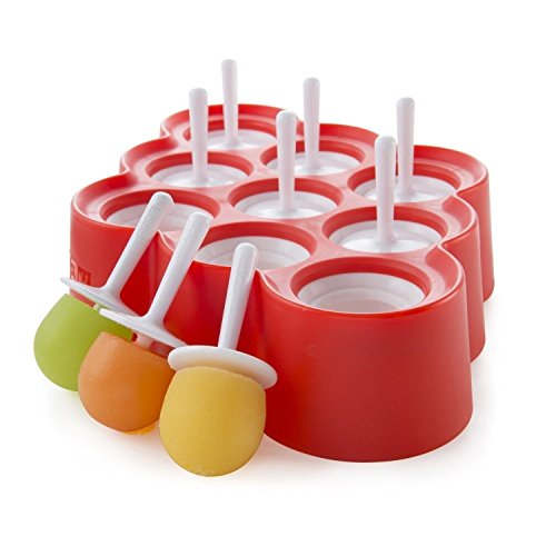 Mystery&Melody Cute Bear EIS am Stiel-Form-EIS-Silikon-Form-EIS Lolly Moulds Ice Maker für Kinder (Red-9pcs)