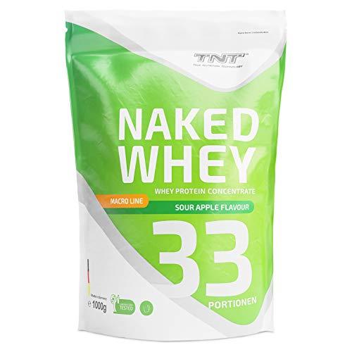 Whey Protein Pulver - Eiweißpulver aus Molke - Proteinpulver mit Laktase - Eiweiß-Shake / 1kg SAURER APFEL -
