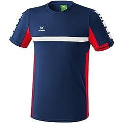 ERIMA Children's T-Shirt with 5Cubes Motif blue New Navy/Rot Size:164 (EU) by Erima