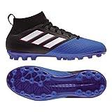 adidas Unisex-Kinder Ace 17.3 Ag J Futsalschuhe, Blau (Black/Ftwwht/Blue), 38 EU
