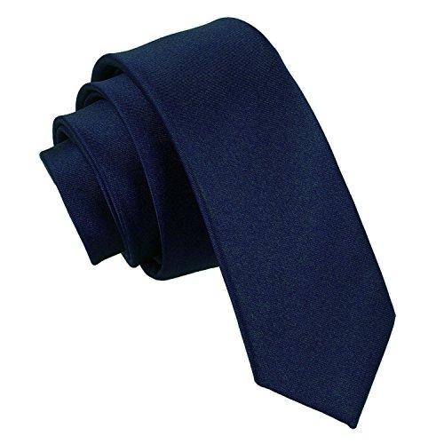 Cravate Bleu marine Slim - Cravate fine unie - 5cm 22ac3895c55