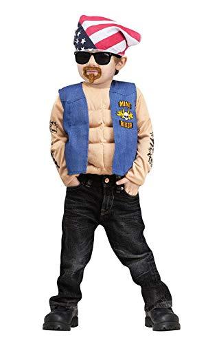 Kostüm Biker Junge Mini - Horror-Shop Mini Biker Kinderkostüm für Fasching & Karneval L