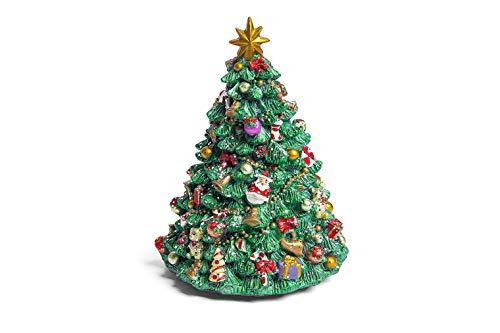 Hotex Spieluhr/Weihnachtsbaum / 11 x 15 cm/drehend / Lied We Wish You a Merry Christmas