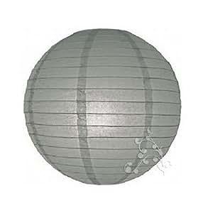 Hl - Lampion boule chinoise gris 20 cm