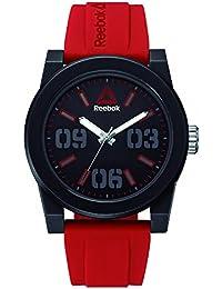 Reebok Reloj Analógico para Hombre de Cuarzo con Correa en Silicona RD-HOO-G2
