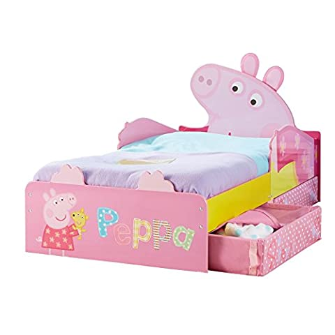 Peppa Pig Kids Toddler Bed with Underbed Storage by