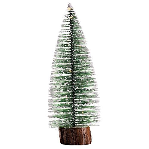 Bodbii Artificial Christmas Light Pine Tree Mini Tabletop Xmas Tree Holiday Festival New Year Home Decoration