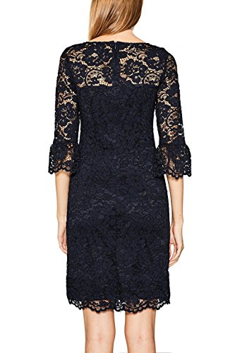 ESPRIT Collection Damen Kleid Blau (Navy 400)
