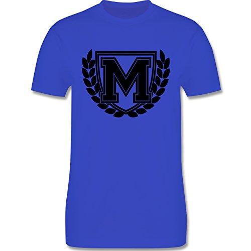 Anfangsbuchstaben - M Collegestyle - Herren Premium T-Shirt Royalblau