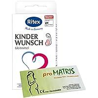 Ritex Kinderwunsch Gleitmittel 8 Applikatoren à 4 ml Vorteilspack + 20 proMatris Ovulationstest Streifen 10 miu/ml preisvergleich bei billige-tabletten.eu