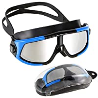 Festnight Professional Swim Goggles Women Men Adjustable Anti-Fog Wide View Swimming Goggles for Adults