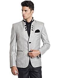 Chaqueta sport color plata de fiesta hecha de rayón para hombre Wintage
