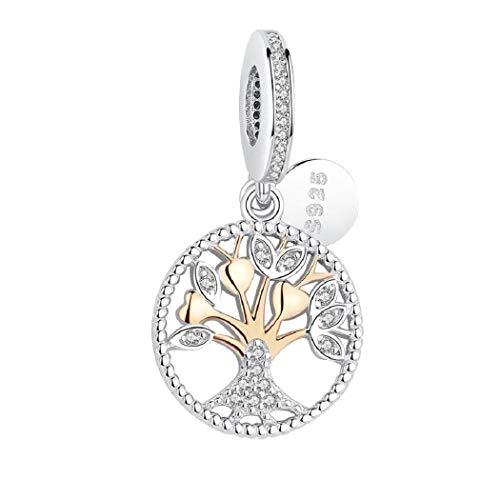 b95bfa98 FeatherWish - Colgante de plata de ley 925 con circonita cúbica para  pulsera Pandora, diseño
