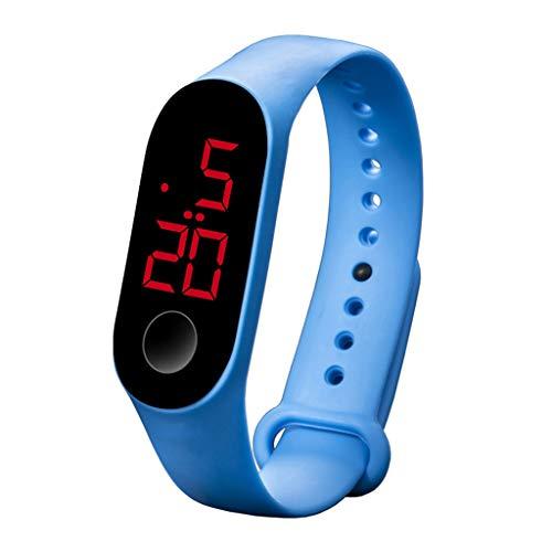 armbanduhr herren armbanduhren männer Herrenuhr mit Datum Funktion Mode Digital LED Sportuhr Unisex Silikonband Armbanduhren Männer Frauen Armbanduhr Uhren Armbanduhren schwarz(G)