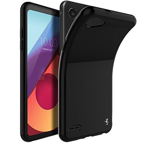 LK LG Q6 Hülle, Ultra Schlank Dünn TPU Gel Gummi Weiche Haut Silikon Anti-Kratzer Schutzhülle Abdeckung Case Cover für LG Q6 (Schwarz)