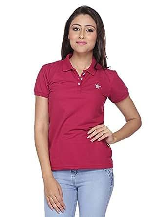 Brink Women Fuchsia Polo T-Shirt