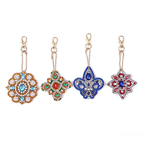 l Drill Special Shaped Diamond Painting Keychain Pendant ()