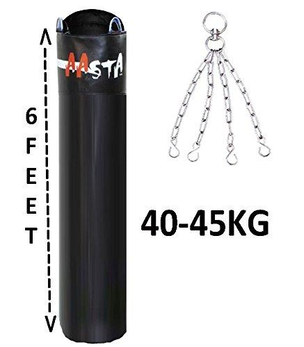 1,83 Meters Sacco da boxe imbottito, 30-35 KG, Kick Boxing, da parete, con catenella