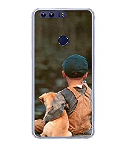 Fuson Designer Back Case Cover for Huawei Honor V8 (Animal Love Cute Boys Child Children School Play)